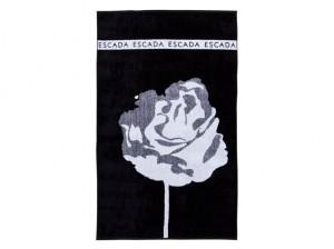 Escada_Strandtuch_Flower_schwarz