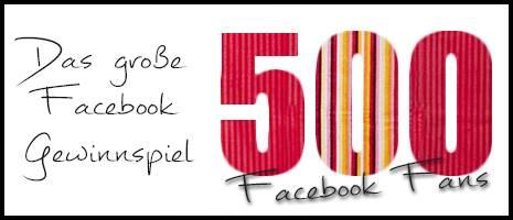 Danke für 500 Facebook-Fans