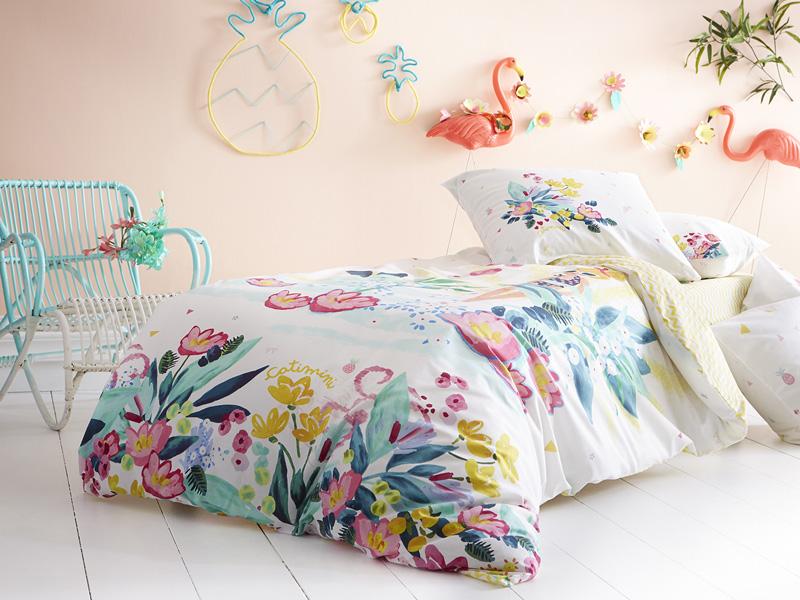 CATIMINI Kinderbettwäsche L'Ile Aux Fleurs