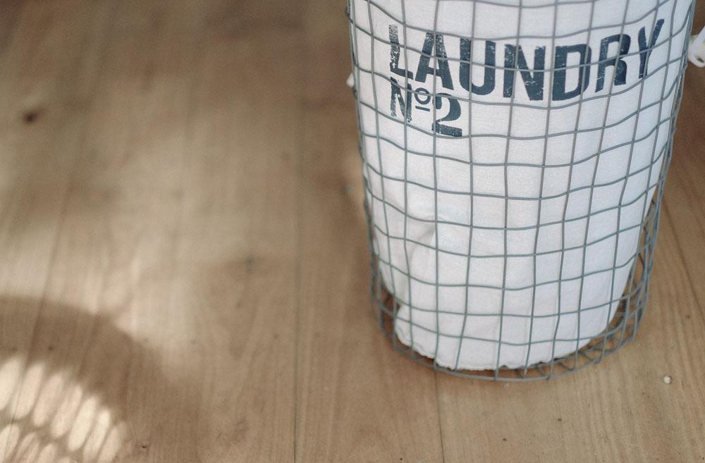 frühjahrsputz wäschesack