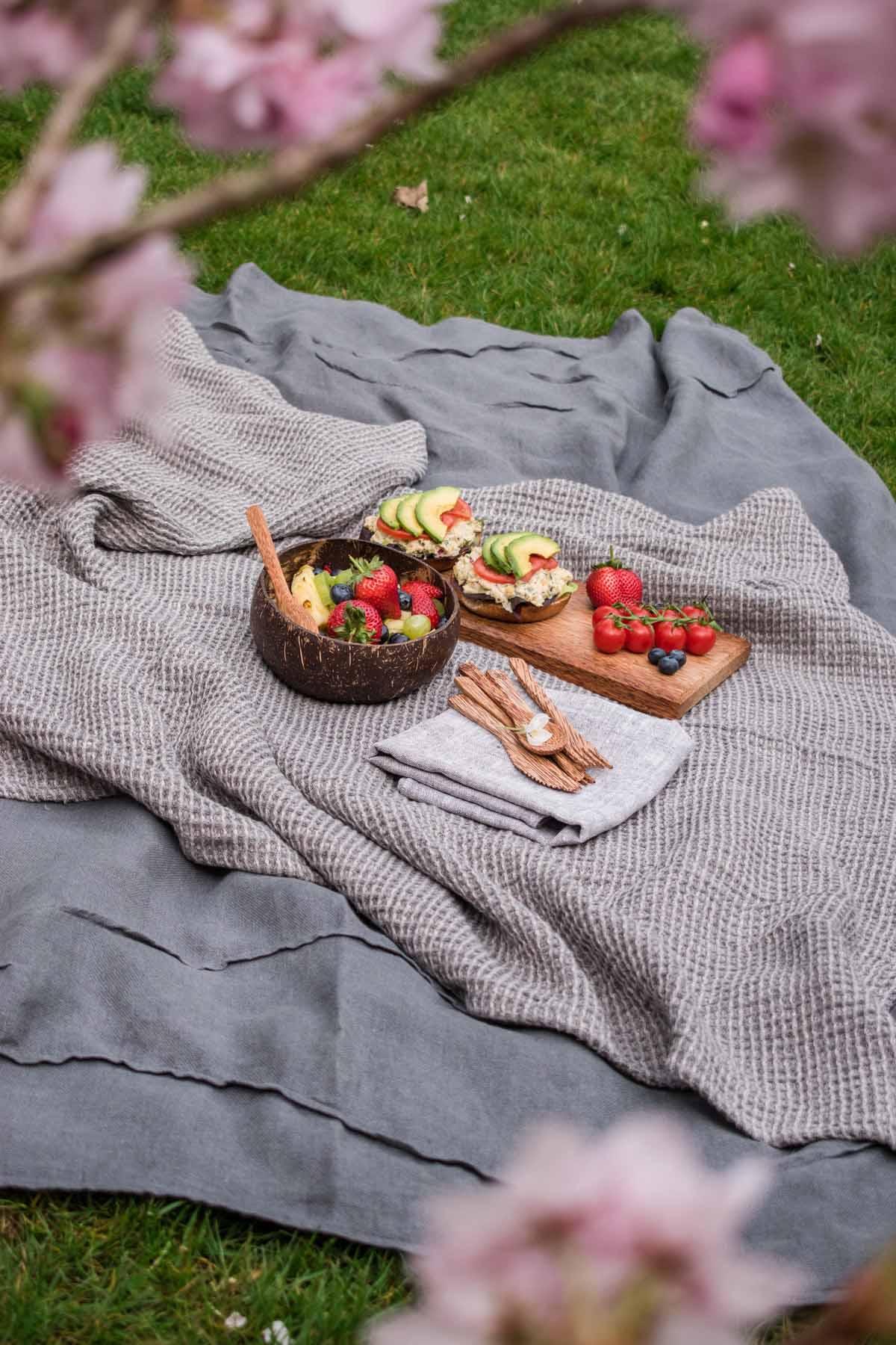 Picknicken im Sommer