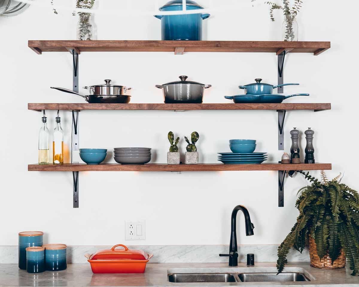Küche einrichten in Blau