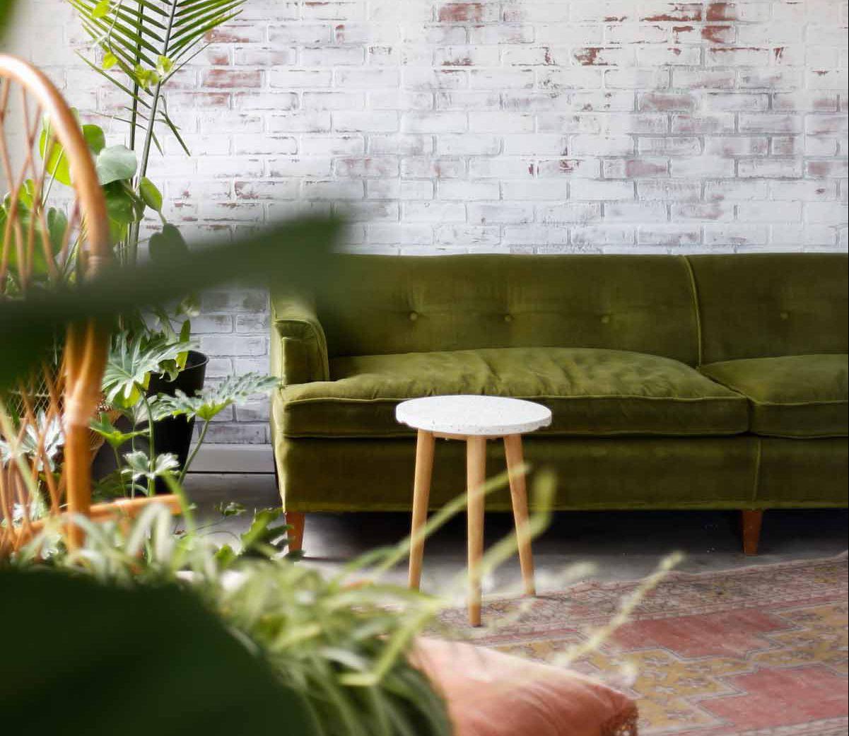 Grün Einrichten im Wohnzimmer